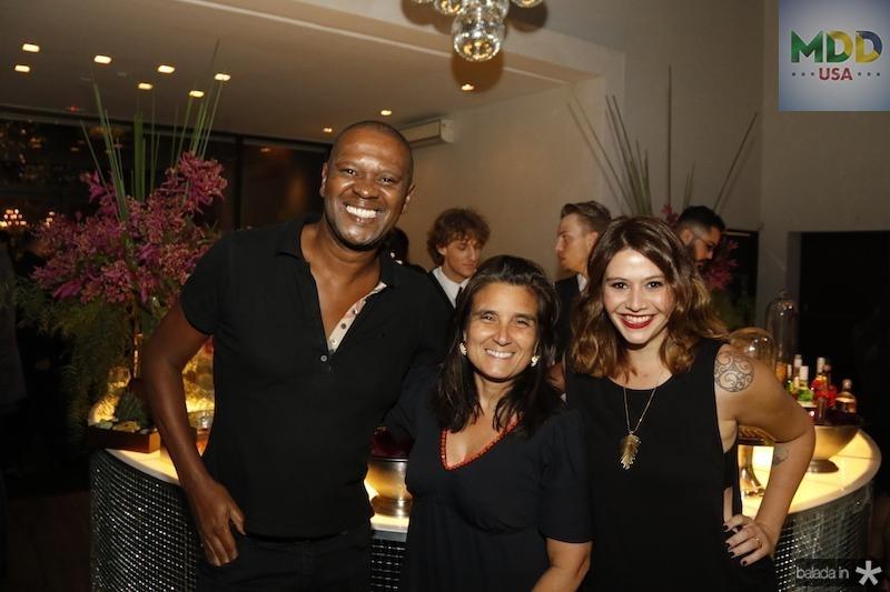 Marcelo Nascimento, Andrea Franco e Isadora Capelo