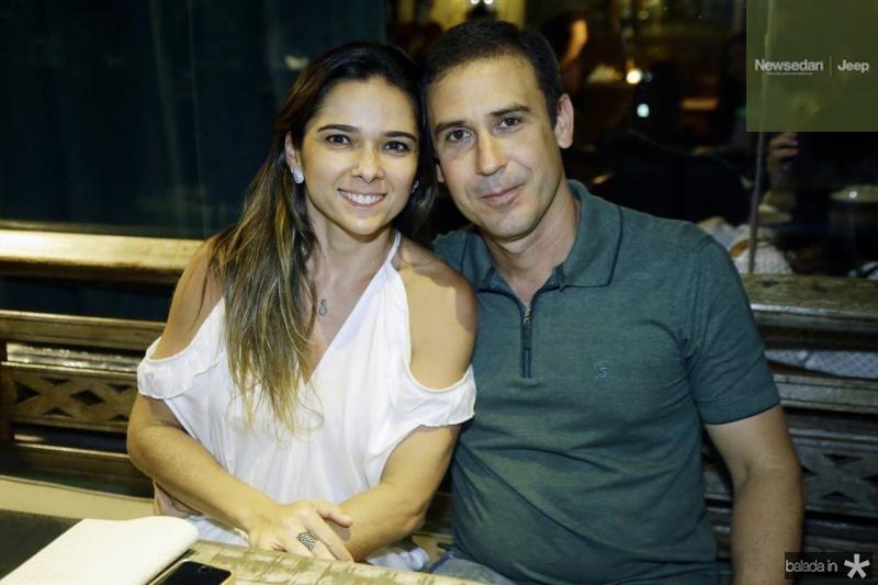 Cynthia Vasconcelos e Leonardo Leal