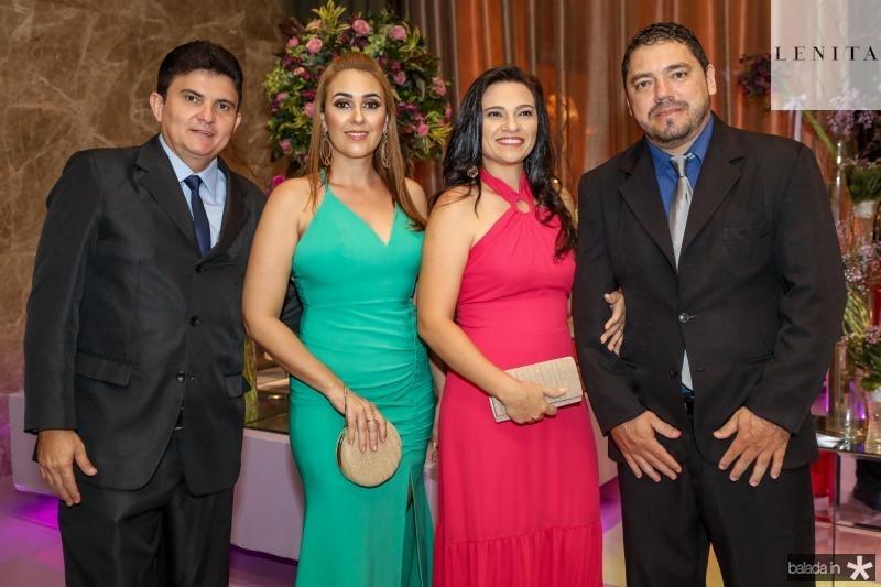 Elvis Sunie, Liziane Marinho, Taiza Fernandes e Pedro Augusto