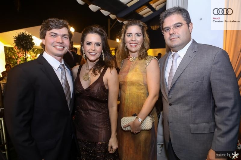 Eduardo e Cristina Lima, Ticiana e Edson Queiroz Neto