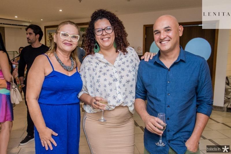 Regina Vasconcelos, Lidiane Chaves e Paulo Rafael