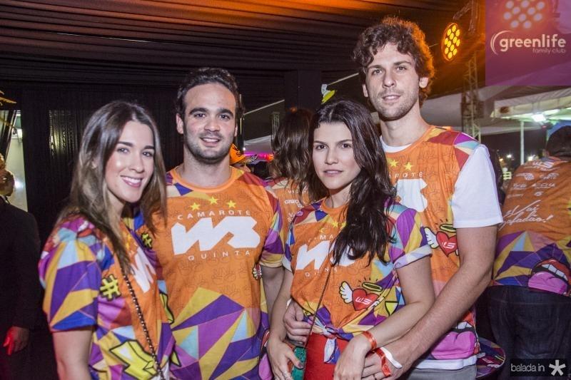 Sara Brasil, Lucas Asfor, Liana Brasil e Henrique Brasil