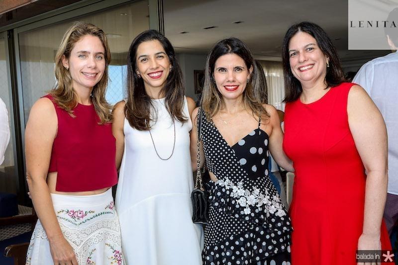 Lina Pinheiro, Bia Carvalho, Pamela Arruda e Luciana Bezerra