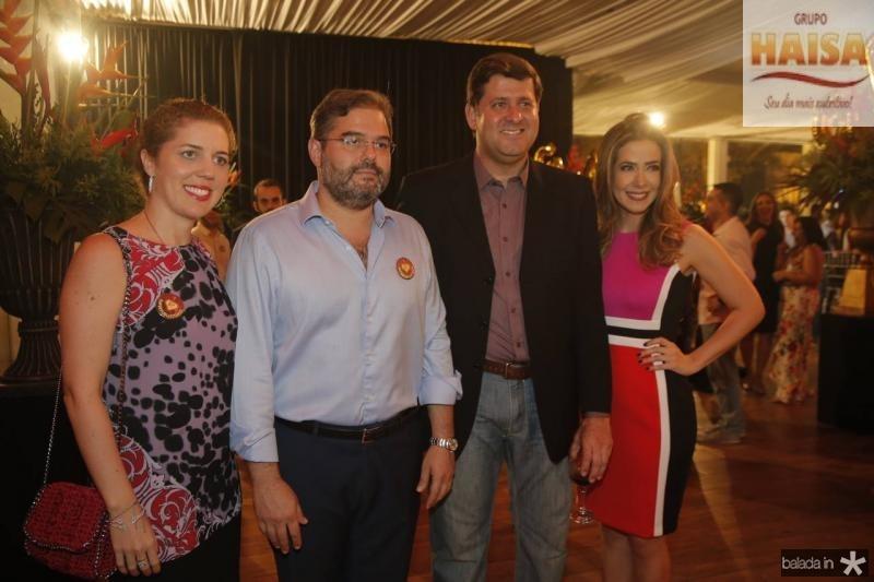 Ticiana e Edson Queiroz Neto, Rafael Rodrigues e Adamir Macedo 2