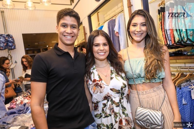 Pedro Ximenes, Leticia Studart e Claudia Vidal
