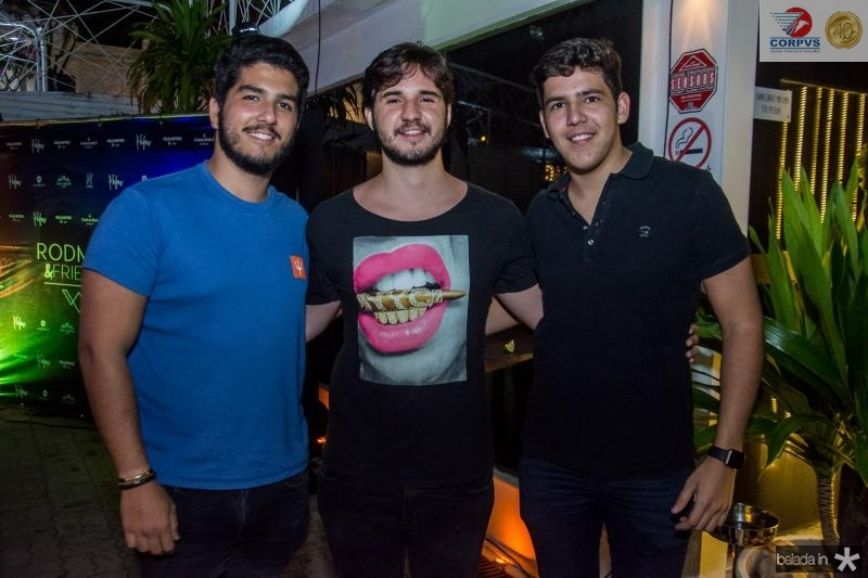 Pedro Franca, Joao Matheus e Pedro Borges