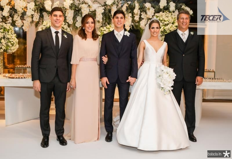 Andre, Cristina e Eduardo Sleiman, Roberta Martins e Mauricio Sleiman