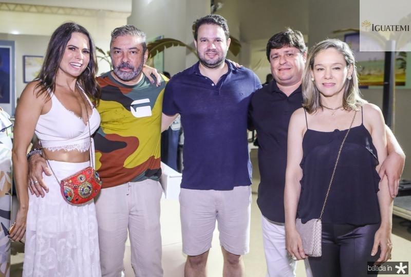 Luciana Sousa, Claudio Silveira, Leo Couto, George e Erica Lima