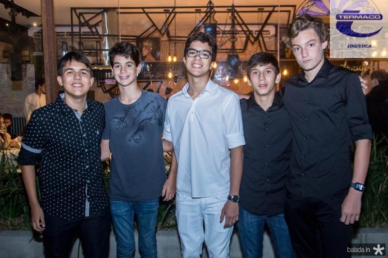 Paulo Prata, Joao Vitor Vanley, Luiz Cidrao, Guilherme Nobrega e Eduardo Vanley