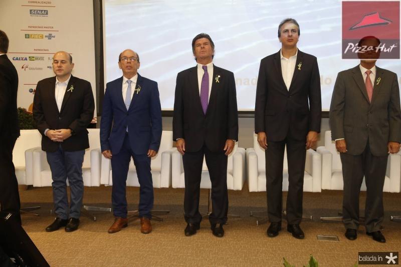 Roberto Claudio, Andre Montenegro, Luiz Fux, Camilo Santana e Beto Studart