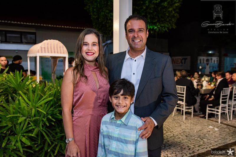 Cibele, Fabinho e Fabio Campos