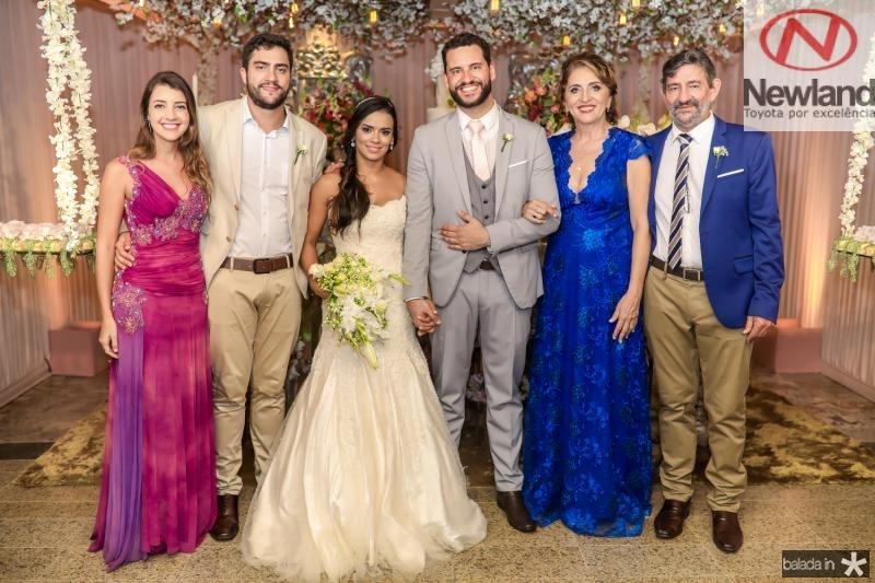 Thais Zoline, Juliano, Veruska, Tiago, Conceiçao e Vieira Lobo