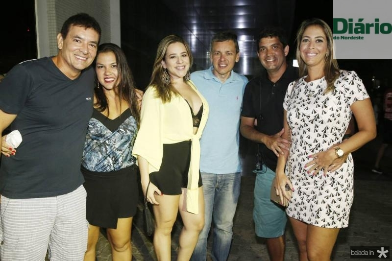 Chiquinho Sarno, Thais Ventura, Rafaela Goes, Cassio Franco, Victor e Raquel Ferreira