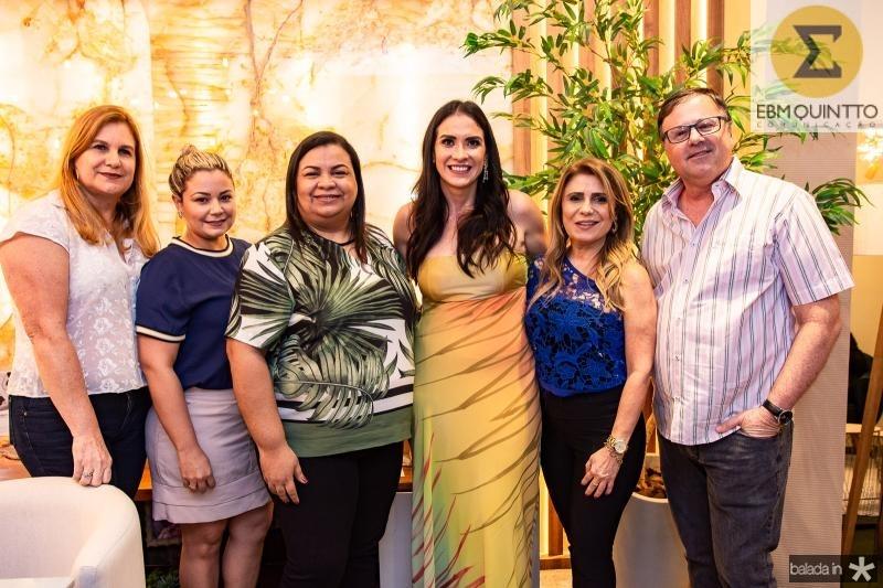 Marinez Charron, Eveline Pontes, Adriana Monteiro, Luciana Carioca, Adelia Albuquerque e Francois Charron