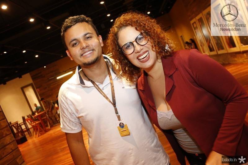 Elias Bruno e Luana Gurgel