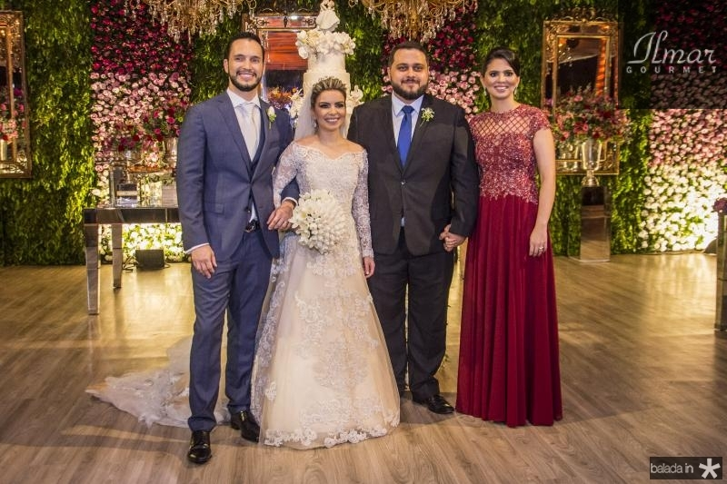 Roberto Cabral, Diandra Alves, Pedro Lira e Alexandra Alves