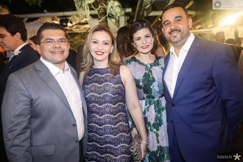 Valdetario e Ana Karine Monteiro, Cintia e Alexandre Goyanna