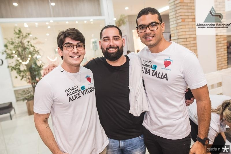 Laercio Marques, Luiz Victor Torres e Marcos Maciel
