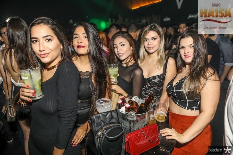 Julia Caetano, Juliana Aguiar, Jessica Facanha, Ariane Pessoa e Edivania Silva