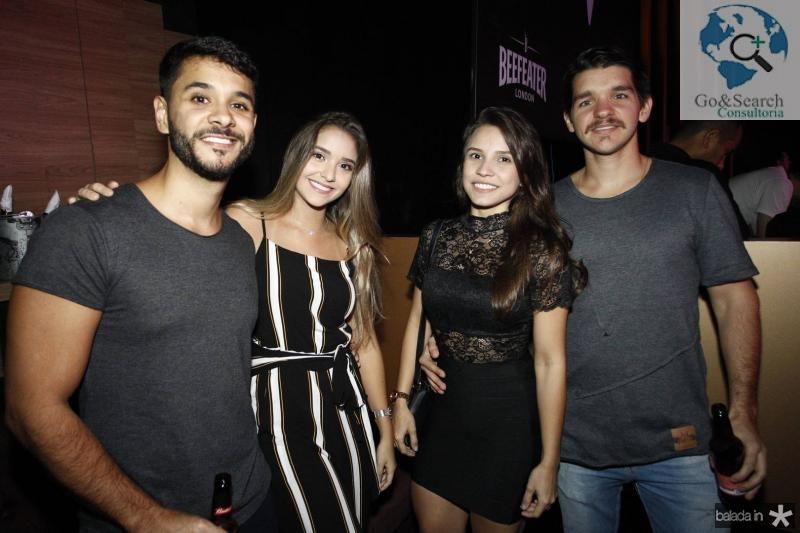 Felipe Barbosa, Virna Elen, Evelin Facanha e Leonardo Reboucas