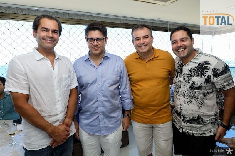 Cândido Pinheiro, Leonardo Carvalho, Ricardo Bezerra e Fernando Diniz