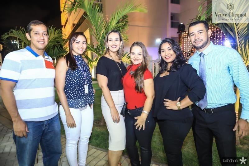 Breno Diniz, Daniele Oliveira, Alice Teles, Erica Santos, Samara Oliveira e Roberio Rodrigues