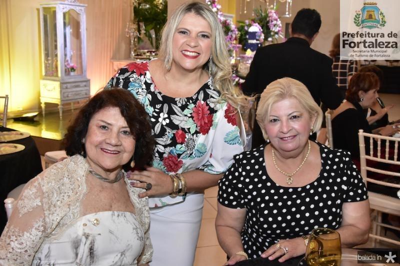 Creusa Lima, Elana Pontes e Terezinha Linhares