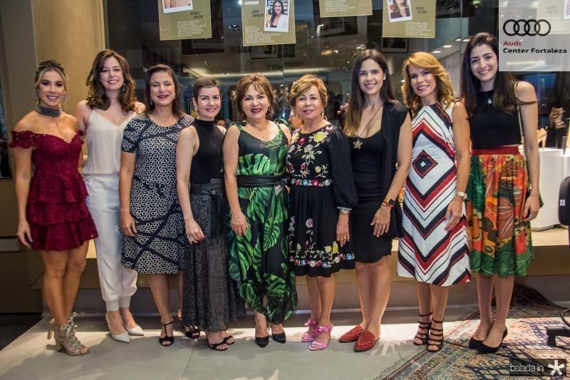 Priscilla Silva,Renata Sleiman, Juliana Freitas, Renata Bastos, Regina Pinho, Tane Albuquerque, Joana Ramalho, Maira Silva e Mila Ary