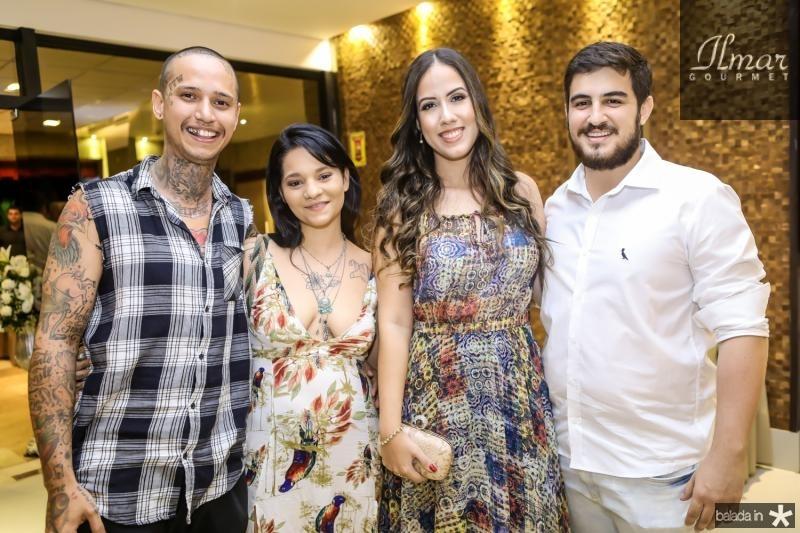 Hugo Rigui, Thaisa Maia, Lara Mendes e Felipe Pinho
