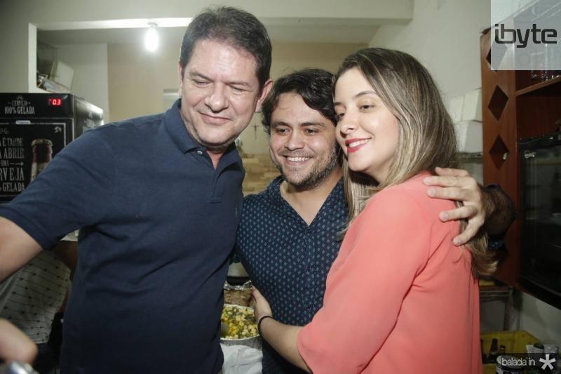 Cid Gomes, Anderson Costa e Caroline Viana