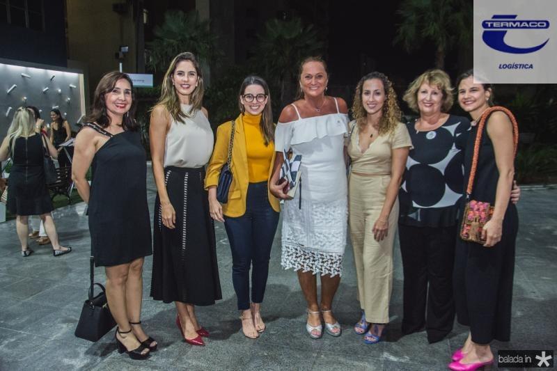 Neila Fontenele, Marilia Fiuza, Ticiana Barreira, Sonia Hess, Sasha Reeves, Anette de Castro e Celina Hissa