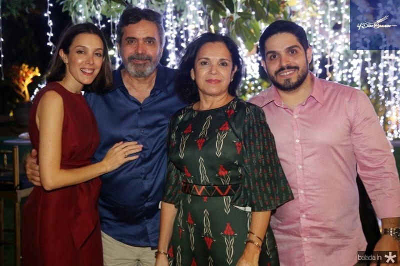 Joanna, Totonho, Elusa e Fernando Victor Laprovitera