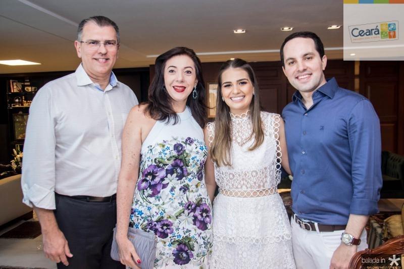 Randal Pompeu, Gina Pompeu, Manuela Câmara e Tomas Moraes