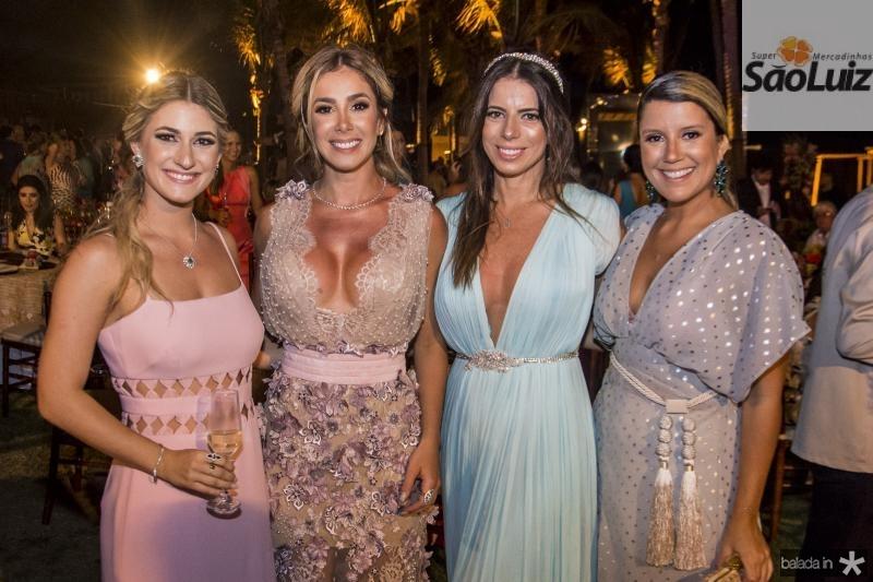 Bruna Magalhaes, Priscilla Silva, Lina Franck e Raquel Xavier
