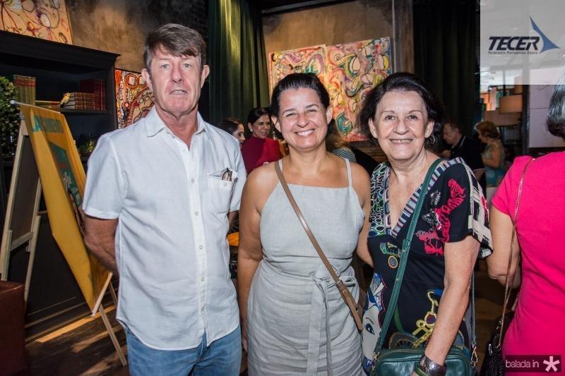 Nick, Karine Fontes e Beta Wagsthff