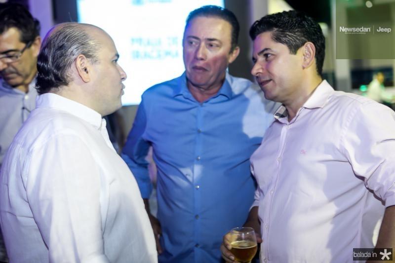 Roberto Claudio, Darlan Leite e Pompeu Vasconcelos