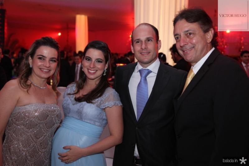 Afranio e Daniela Barreira com Ticiana e Andre Parente