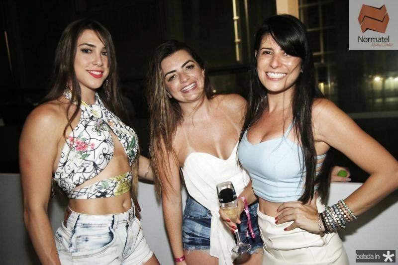 Renata Coan, Erica Moreno e Suzana Lopes