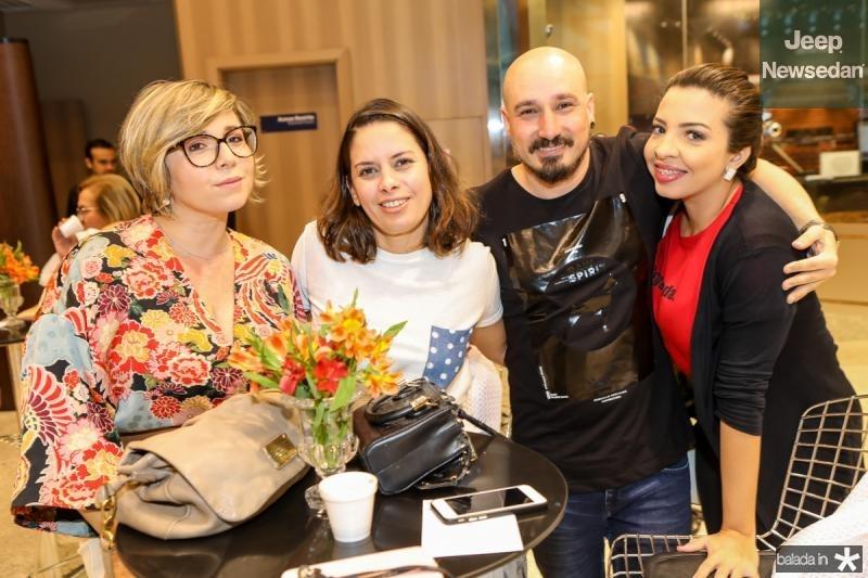 Candisa Lopes, Thais Ferreira, Marcos Nunes e Emilia Dias