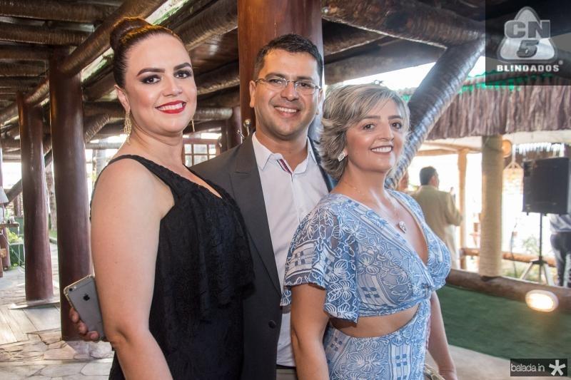 Andrea Anfrizio, Rodger Lima e Madalena Franco
