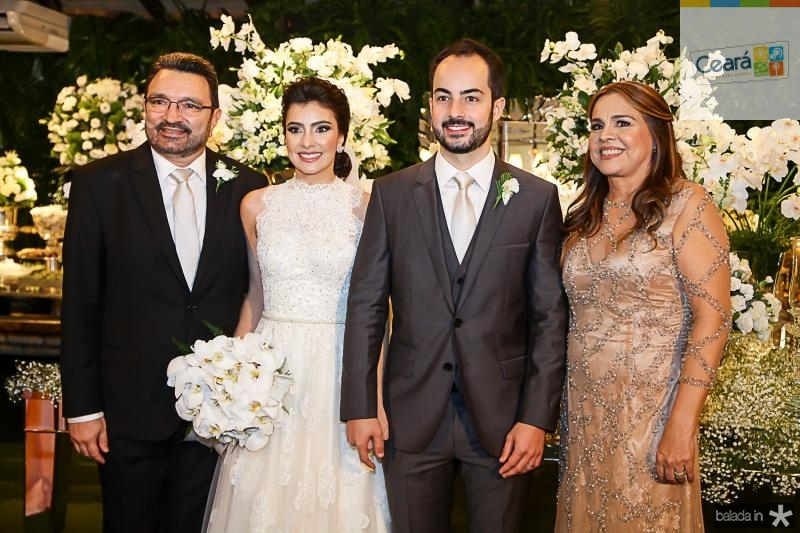 Joao Tagera, Beatriz Pontes, Felipe Barreira e Divane Pontes