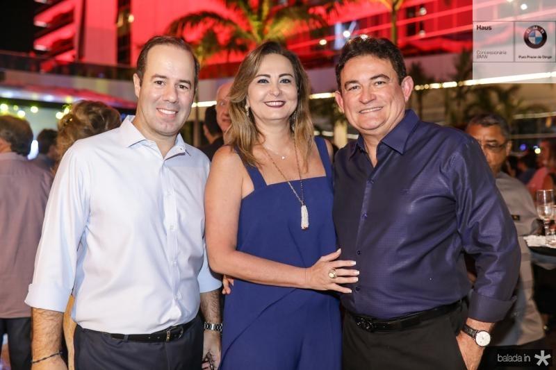 Cesar Ribeiro, Fatima e Fernando Santana