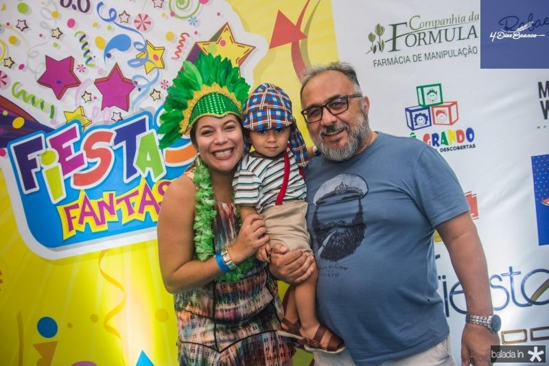 Evania Silva, Joao Flavio e Flavio Dantas