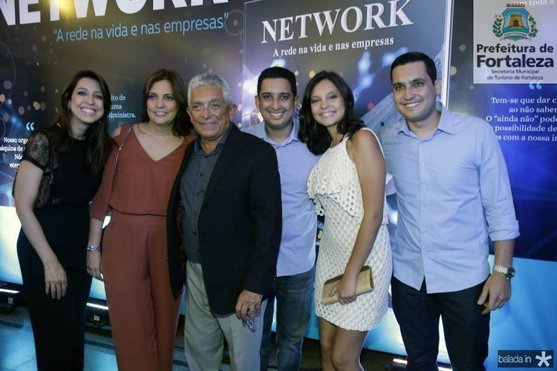 Juliana, Soraia, Tadeu, Lauro, Eduarda e Luiz Sobreira
