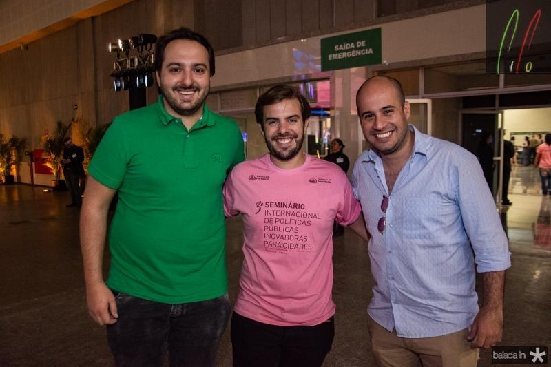 Adams Gomes, Claudio Nelson e Carlos Macude