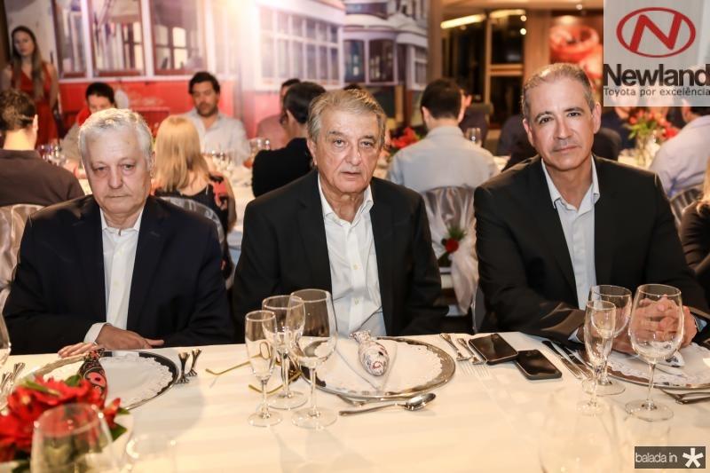 Mario Carvalho, Arialdo Pinho e Regis Medeiros