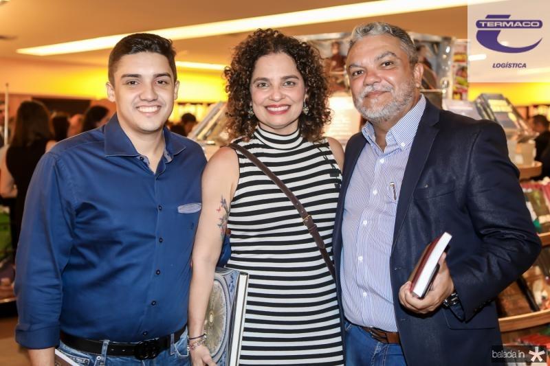 Pedro Luiz, Valeria Teles e Luis Abrantes