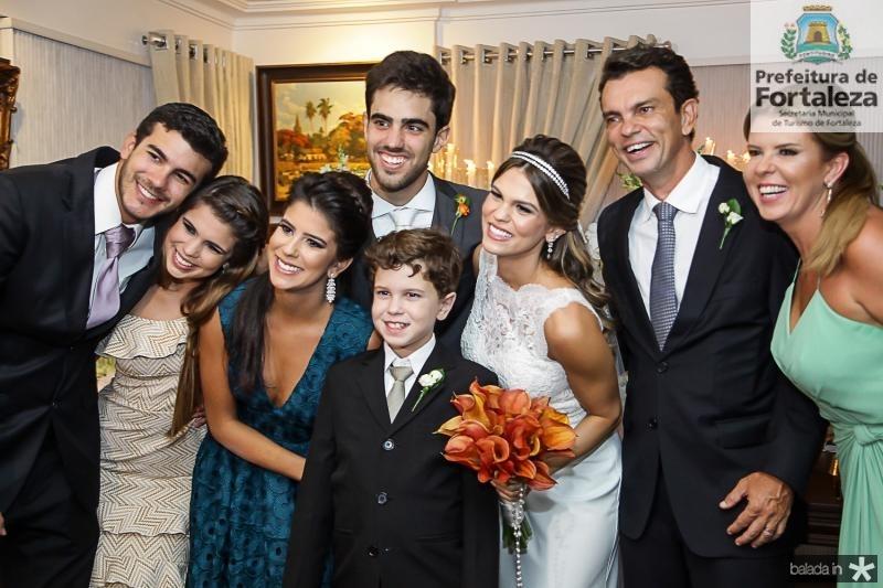 Felipe, Julia, Marcela e Fred Pinto, Lucas Ximens, Mariana, Fred e Alexandra Pinto