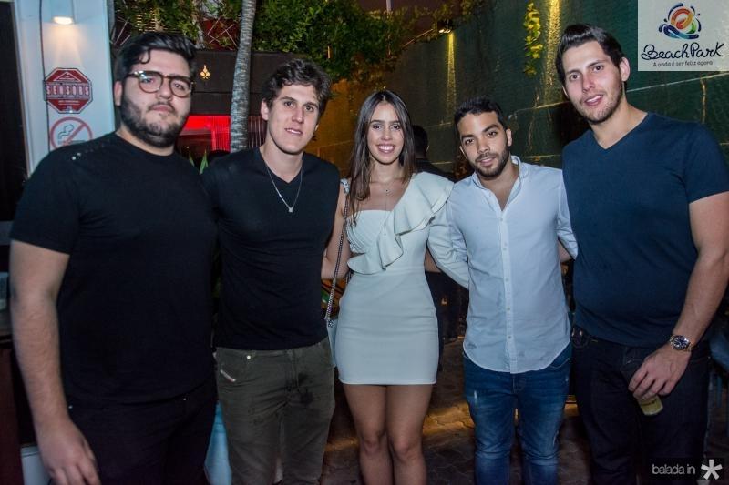 Pedro Freitas, Marcelo Dias Branco, Julia Leal, Matheus Bezerra e Gabriel Dias Branco