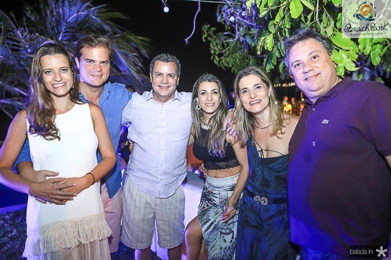 Carol e Henrique, Snitcovski, Marco e Sabrina Aluisio, Alessandra e Daniel Moura